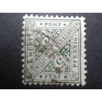 Германия Вюртемберг 1881 служебная марка