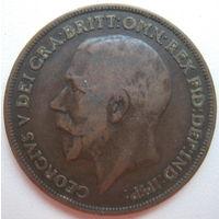 Великобритания 1 пенни 1917 г. (d)