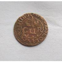 Двойной пени не датированный (1632-33гг.)Карл l Шотландия в унии с Англией