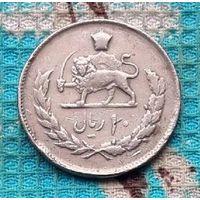 Старый Иран 10 риалов. Лев с саблей. Большая монет.