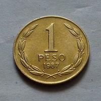 1 песо, Чили 1987 г., AU