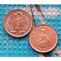 Зимбабве 1 цент 1997 года. UNC. Инвестируй выгодно в монеты планеты!