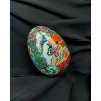 Яйцо, фарфор, винтаж, Китай 60е года, ручная роспись