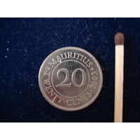 Монета 20 центов, Маврикий, 2003 г.