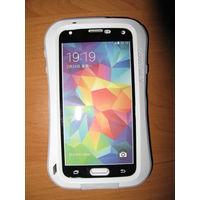 Экстремальный чехол для Samsung Galaxy S5 металл+силикон+gorilla glass Love Mei (белый)