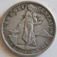 8. Филиппины  под США  20 сентавос 1944 год, серебро