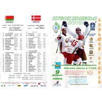 Хоккей.Программа. Кубок Полесья. Беларусь - Дания. Гомель. 2008.