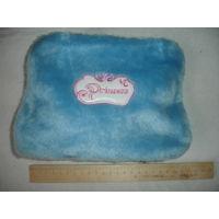 Косметичка сумочка для маленькой принцессы из голубого меха