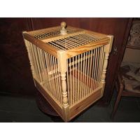 Клетка для певчих птиц,натуральная древесина.Новая.