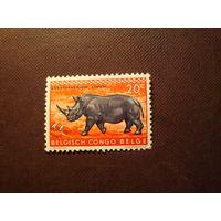 Бельгийское Конго 1959 г.Носорог .