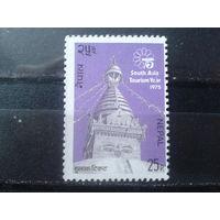 Непал 1975 Год туризма, храм*