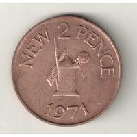Гернси 2 пенс 1971