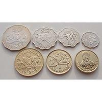 """Эсватини""""Свазиленд"""" Набор 7 монет 5,10, 20, 50 центов - 1, 2, 5 эмалангени 1999 - 2010 год"""