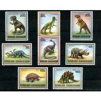 Центальноафриканская Республика 1988г, доисторические животные, 8м.