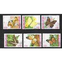 Бабочки Кабо-Верде 1982 год серия из 6 марок