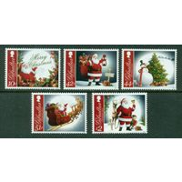 Гибралтар 2012 ** Рождество. Новый год Елка Дед Мороз