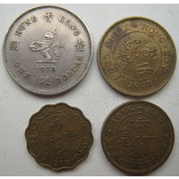 Гонконг Британский 10 центов 1975, 20 центов 1978, 50 центов 1978, 1 доллар 1979 гг. Цена за все (u)