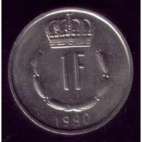 1 Франк 1980 год Люксембург