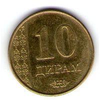 Таджикистан 10 дирам 2011 года.