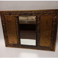Зеркало вешалка старинное латунь бронза