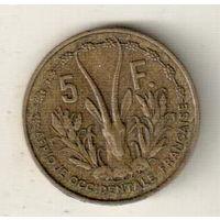 Французская Западная Африка 5 франк 1956