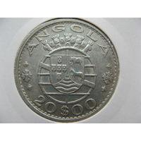 Ангола 20 эскудо 1955 г. серебро