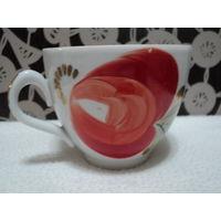 Чашка Полтавский фарфоровый з-д 1965-91гг,ручная роспись(200мл),лот 11