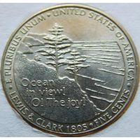 США 5 центов 2005 год