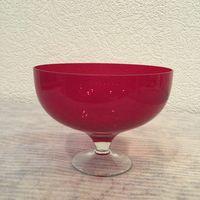 Ваза для фруктов (конфет) Рубиновая, стекло