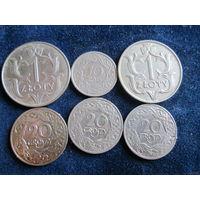 ПОЛЬША  довоенные: 50 грошей 1923, 20 грошей 1923  цена одной монеты 1,1 руб.
