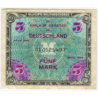 5 марок  1944 г., советская. зона окупации , Германия серия 010525497