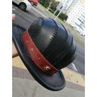 Шляпа черная натуральная кожа