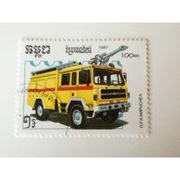 Камбоджа 1987. Пожарные машины