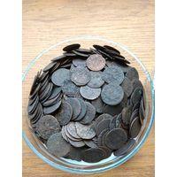 Клад монет ВКЛ, боратинки 300+шт
