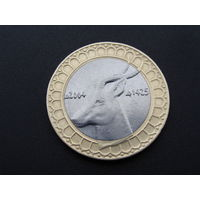 """Алжир. 50 динар 2004 год. """"Голова газели""""  КМ#126"""
