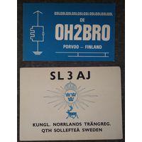 Карточка радиообмена. 1960-70-е. 2 шт. Цена за все