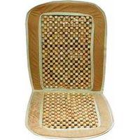 Накидка на сиденье бежевая с деревянными вставками CU63BGD