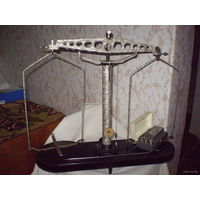 Весы тарирные (или весы Мора) металлические взвешивают от 100 гр до 1 кг, тонкая настройка + гирьки