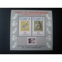 Питкерн 1996 китайский Новый год блок