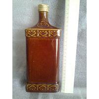 Глиняная бутылка.Старая.