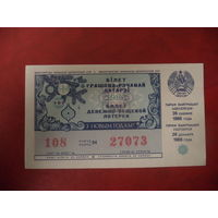Денежно-вещевая лотерея 1986 года БССР