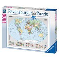 Паззл Равенсбургер  1000 элементов Политическая карта мира