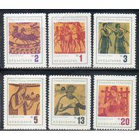Памятник болгарской культуры. Фракийская гробница Болгария 1963 год серия из 6 марок