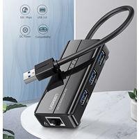 Ugreen USB - Ethernet адаптер USB 3.0 to RJ45, HUB (100Мбит)