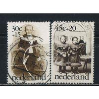 Нидерланды 1974 50 летие выпуска марок фонда Для детей Фотографии детей #1039,1041