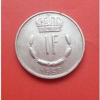 68-27 Люксембург, 1 франк 1968 г.