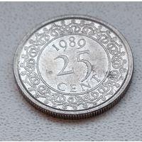 Суринам 25 центов, 1989 6-11-38