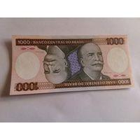 Бразилия 1000 крузейро состояние UNC