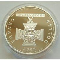 Канада, доллар 2006 Крест Виктории. Замечательный !!! С р. без М.Ц.