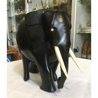 Статуэтка (фигура) Индийский Слон, чёрное дерево